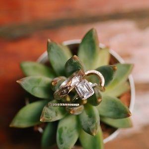 2 Carat Emerald Cut Engagement Ring w/ Halo